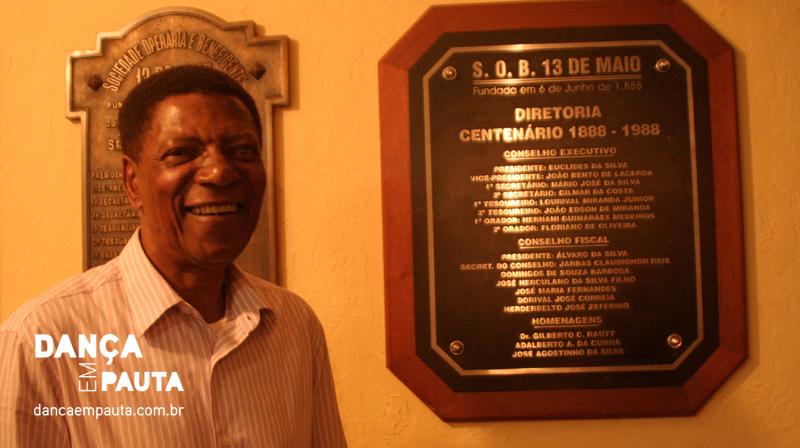 Álvaro Silva, presidente da 13 de Maio, recorda com saudosismo das tradicionais gafieiras realizadas no Clube na década de 50.