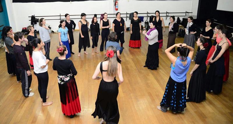 Workshop de Dança Flamenca no Festival de Dança de Joinville 2017, ministrado por Miri Galeano e Jony Gonçalves. | Foto: divulgação
