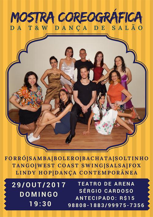 Mostra Coreográfica T&W Dança de Salão @ Teatro de Arena Sérgio Cardoso (anexo ao Teatro Deodoro)  | Alagoas | Brasil