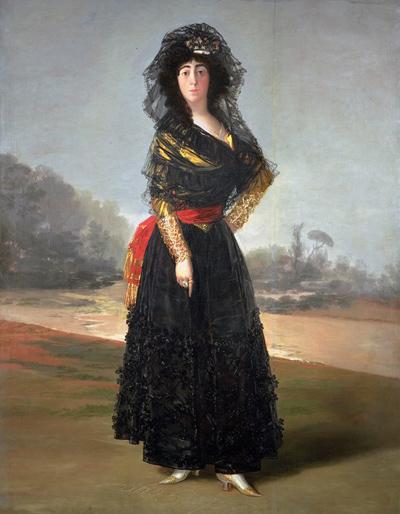 Duquesa de Alba (1797), obra de Franscisco de Goya. Acervo da Galeria Nacional de Londres.