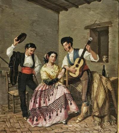 Pintura de Manuel Cabral Aguado Bejarano (1850), acervo do Museu do Romantismo de Madri.