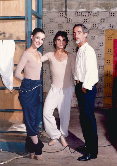 Eleonora, Wanderley e Carlos Trincheiras, nos bastidores de Inter Rupto.