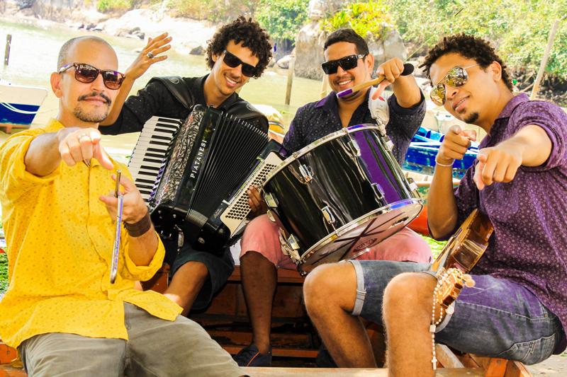 Integrantes do Trio Clandestino, banda capixaba que se apresenta na edição de abril do Forró da Lua Cheia. | Foto: divulgação